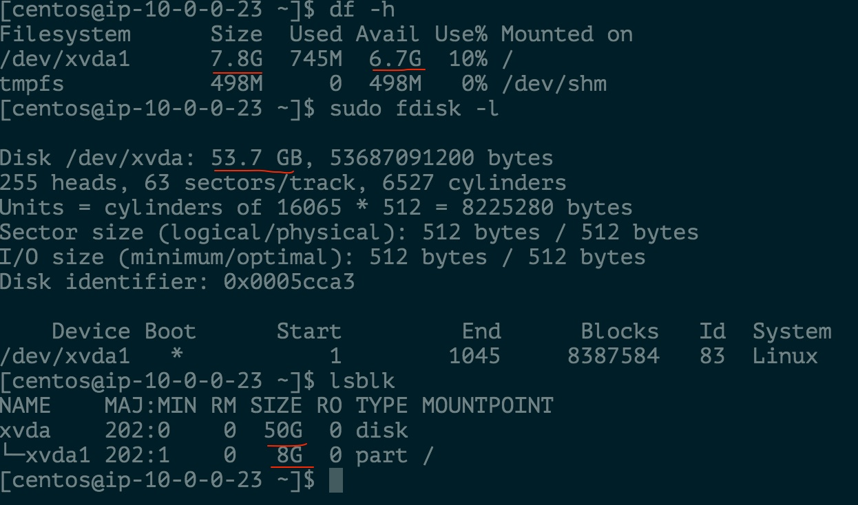Resize root partition on EC2 for centos6-hvm-ami – Why Abhinav?